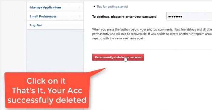 How to delete instagram account permanently or temporarily arun rathi permanently delete my instagram account ccuart Images