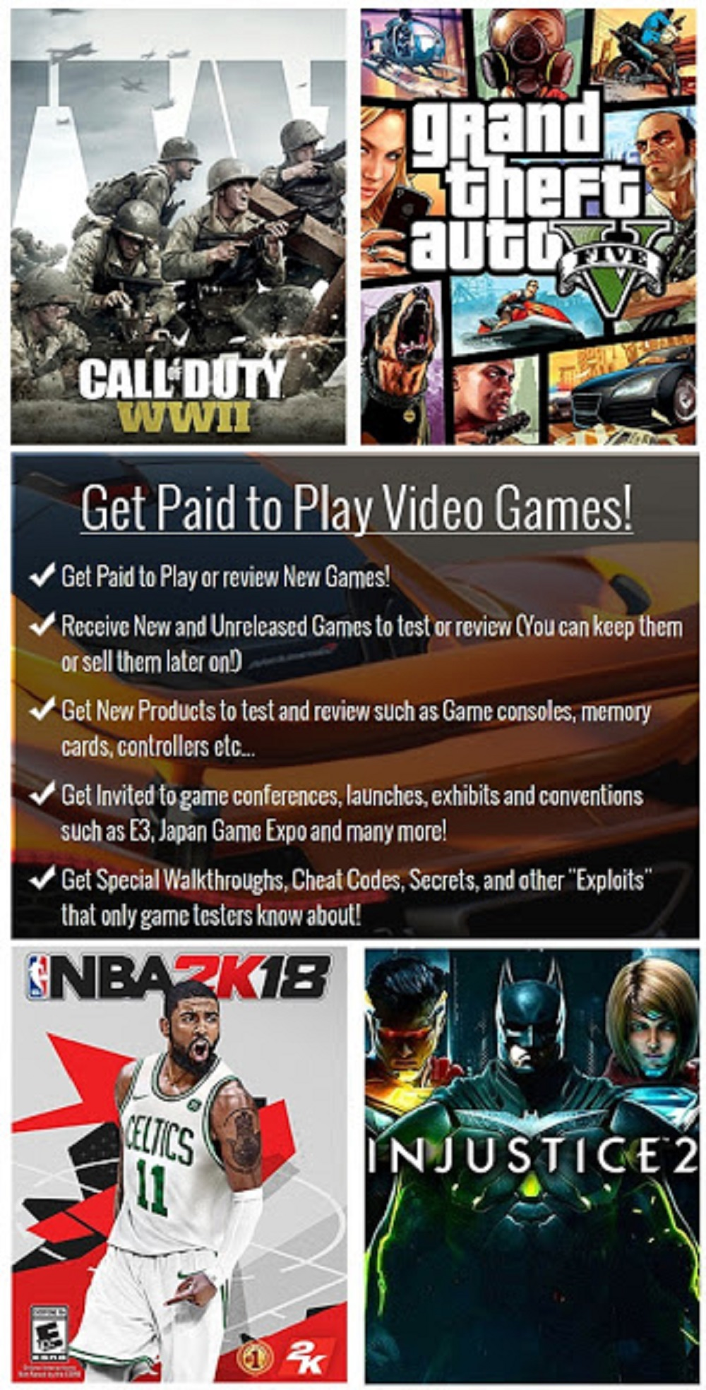 Get Paid To Playing Video Games