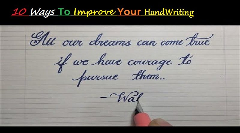 how to improve handwriting
